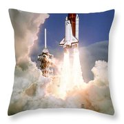 Sts-27, Space Shuttle Atlantis Launch Throw Pillow