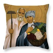 Sts. Isidore And Maria - Rliam Throw Pillow