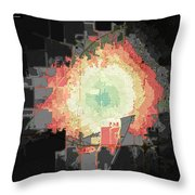 Stuart And Amber Bike Scorched Black Jagged Topo Throw Pillow