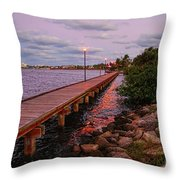 Stuart Riverwalk Sunset Throw Pillow
