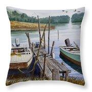 Stuart's Dock  Throw Pillow