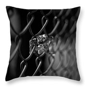 Stuck In A Fence Throw Pillow