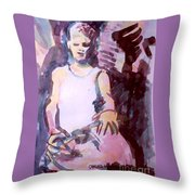 Student With Clay Throw Pillow
