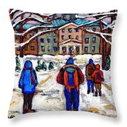 L'art De Mcgill University Tableaux A Vendre Montreal Art For Sale Petits Formats Mcgill Paintings  Throw Pillow