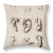 Studies Ears Anonimo, Blooteling Abraham Throw Pillow