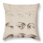 Studies Eyes Anonimo, Blooteling Abraham Throw Pillow