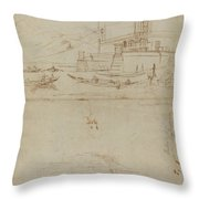 Studies Of Lago Maggiore And And The Entrance To A Palazzo Throw Pillow