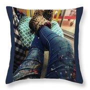 Studio Break Throw Pillow
