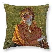 Studio Di Figura Femminile Throw Pillow