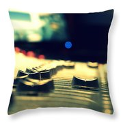 Studio Moments - Faders Throw Pillow