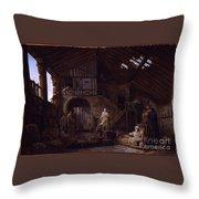 Studio Of An Antiquities Throw Pillow
