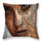 Studio Portrait In Pencil  Throw Pillow