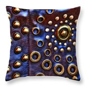 Studs On Leather Throw Pillow