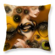 Study For Charming Poetry Throw Pillow