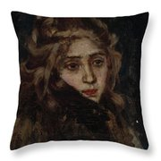 Study For Menshikov At Beriozov Throw Pillow