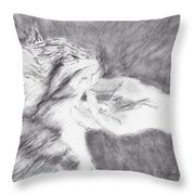 Study For Sweet Spot Throw Pillow by Kathryn Riley Parker