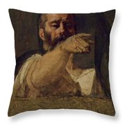 Study For The Centurion Of The Martyrdom Of Saint Symphorien 1834 Throw Pillow