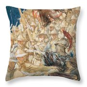 Study For The Coming Of The Americans , John Singer Sargent Throw Pillow