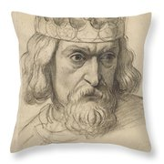 Study For The Head Of A Counsellor Throw Pillow