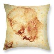 Study For The Head Of Leda Throw Pillow