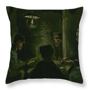Study For The Potato Eaters' Nuenen, April 1885 Vincent Van Gogh 1853  1890 Throw Pillow