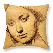 Study For Vicomtesse D Hausonville Born Louise Albertine De Broglie Throw Pillow