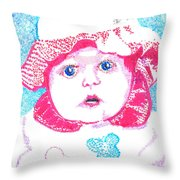 Study In Blue And Pink Throw Pillow
