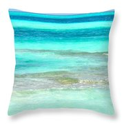 Study In Blue Throw Pillow by Corinne Rhode