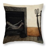 Study In Iron, Wood And Stone Throw Pillow
