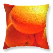 Study In Orange Throw Pillow