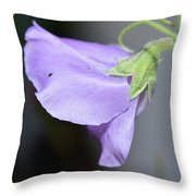 Study In Purple 2 Throw Pillow