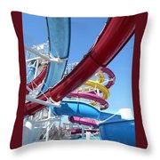 Study In Shipboard Waterslides Throw Pillow