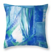 Study In The Blues Throw Pillow