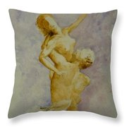 Study In Watercolour Throw Pillow