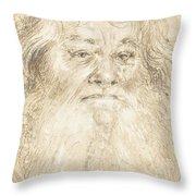 Study Of A Bearded Man [verso] Throw Pillow