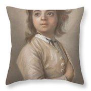 Study Of A Boy In Half Length, Jean-etienne Liotard, 1736 - 1738 Throw Pillow