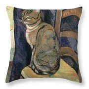 Study Of A Cat Throw Pillow