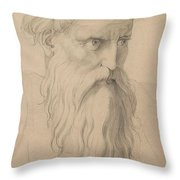Study Of A Character Head Throw Pillow
