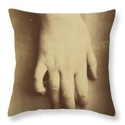 Study Of A Hand Throw Pillow