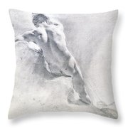 Study Of A Male Nude Throw Pillow
