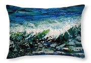 Study Of A Wave Throw Pillow