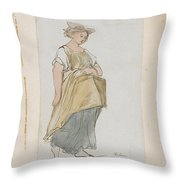 Study Of A Young Woman Throw Pillow