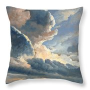 Study Of Clouds With A Sunset Near Rome Throw Pillow
