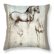 Study Of Horses 1490 Throw Pillow