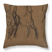 Study Of Horses Throw Pillow