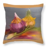 Study Of Onions Throw Pillow