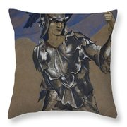 Study Of Perseus In Armour For The Finding Of Medusa Throw Pillow