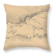 """Study Of """"venus De Milo"""" Throw Pillow"""
