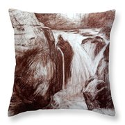 Study Of Rocks At Betws-y-coed Throw Pillow