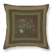 Study Of Taupe Fractals Throw Pillow